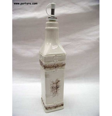 Antique Porcelain Oil or Vinegar Bottle Gift Favor Idea