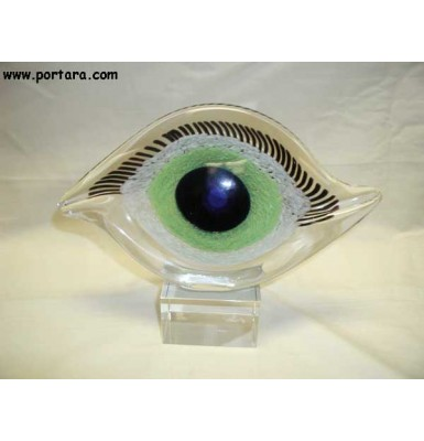 Charmy Crystal Blue Eye Centerpiece ~ Not Decorated
