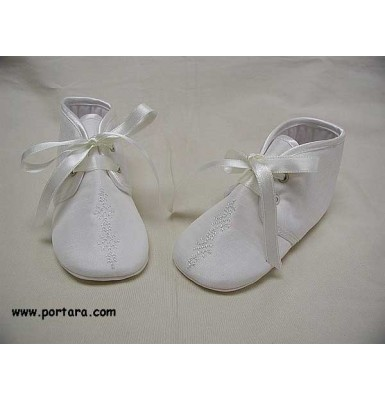 Ivory Silk Fashion Christening Shoes for Your Baby Boy