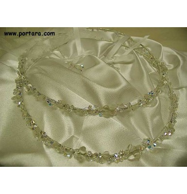 Fabulous Swarovski Clear Crystals AB with Hearts Wedding Crowns