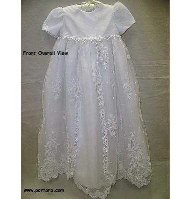 Antonetta White Christening Baptism Dress or Gown