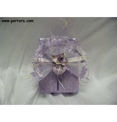 Lilac with Butterflies Wrapping Idea