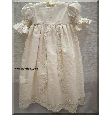 Aristea Silk Christening Baptism Gown or Dress