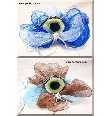 Charmy Crystal Blue Eye Centerpiece ~ Decorated