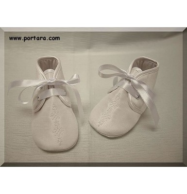 White Silk Fashion Christening Baptism Shoes for Your Baby Boy