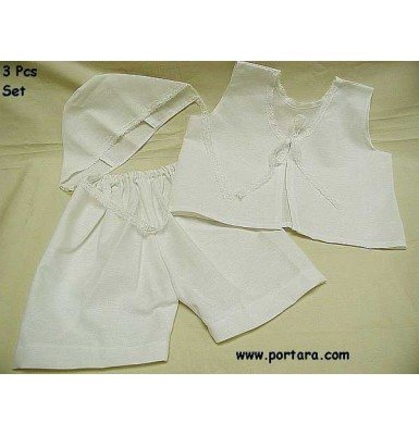 Boys Cotton Undergarments with Embroidery Endings