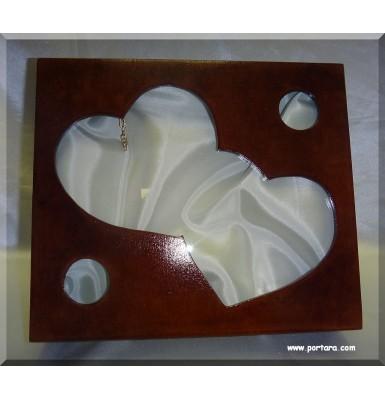 Adorable Double Heart Wedding Crown Case
