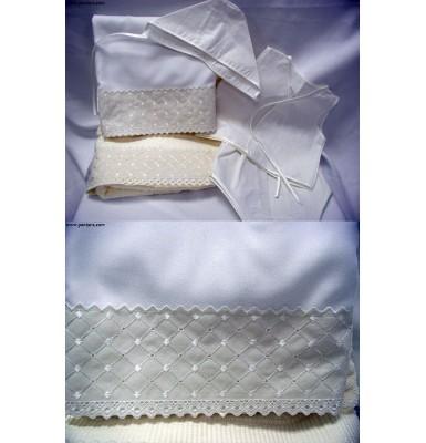 Ecrou Baptismal Undergarment Set ~ Unisex ~ Lathopana