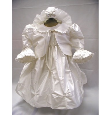 Aphrodite Silk Baptism Christening Dress or Gown