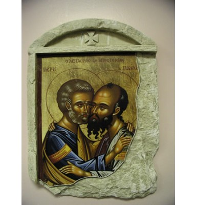 Peter and Paul the Apostles on Stone