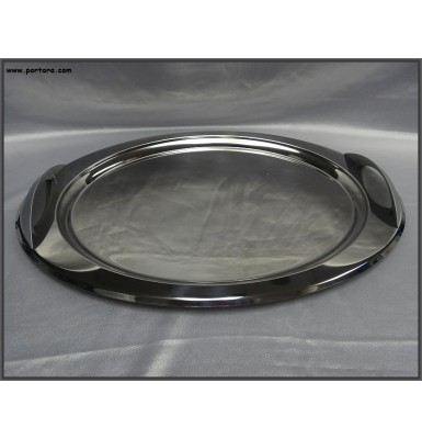 Oval Tray with Elegant Matte Handles