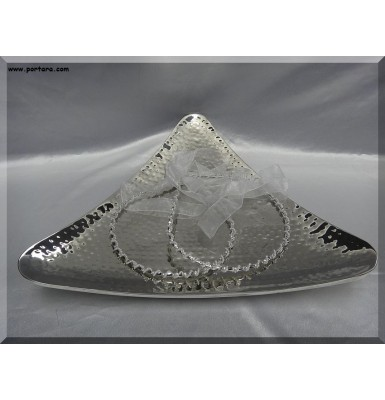 Hammered Triangular Curve Doublewall Tray