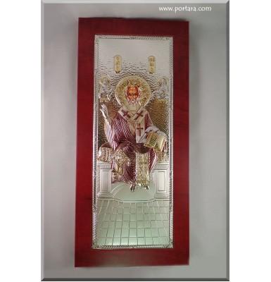 St Nikolas Icon on a Mahogany Tree