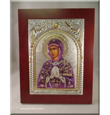 Our Lady of the Seven Sorrows ~ Semistrelnaya ~ Russian Orthodox Icon
