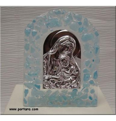 Murano Virgin Mary Arch Icon Baptism Favor