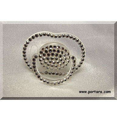 Clear Pacifier with Swarovski AB Crystals