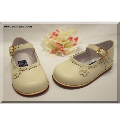 Adorable White Christening Girls Shoes #1