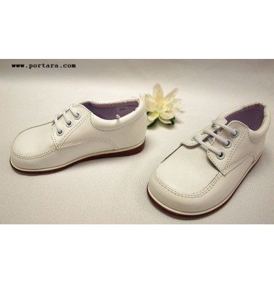 Adorable Boys White Leather Shoes