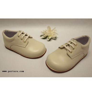 Adorable Boys White or Ivory Leather Shoes