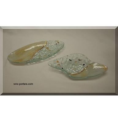 Art Glass Beauty Table Decoration with Pebble Design #2 Favor Idea