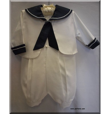 Navy Blue Brian Christening Baptism Outfit