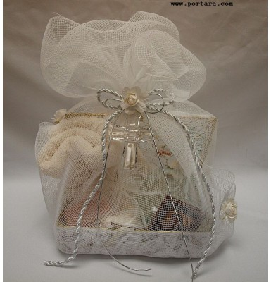 Anointing Oil Basket with Cross ~ Unisex