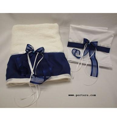 Blue Eye with Navy Accents Christening Baptism Set ~ Lathopana