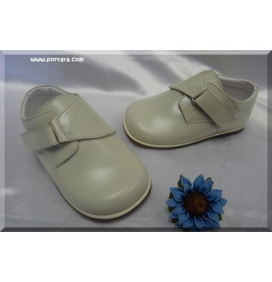 Christening Boys Shoes in White and ivory #6