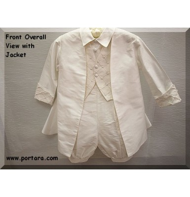 Antonio Pearl White Silk Christening Baptism Outfit ~ Magnificent Outfit