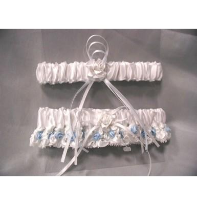 Baby Blue Beauty Garter and Throw Away Set