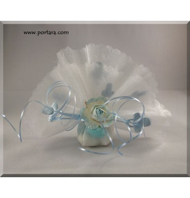 Baby Blue Pacifier Organdy Favor