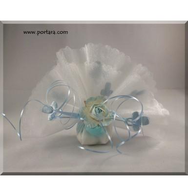 Baby Blue Pacifier Organdy Favor
