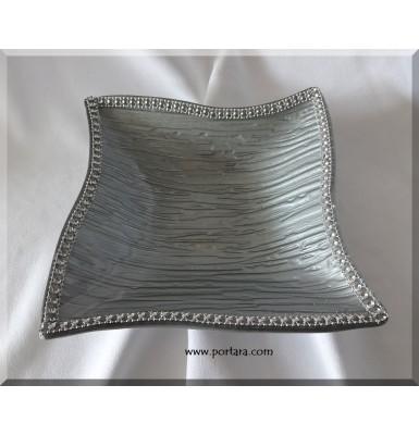 Exlusive Silver Bling Twist Dish Palter