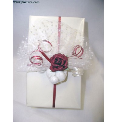 Burgundy Princess Wrapping Idea