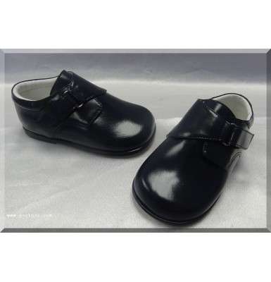 Boys' Leather Shoes in Navy Blue Color