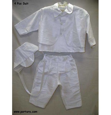 Constantine Pearl White Christening Outfit