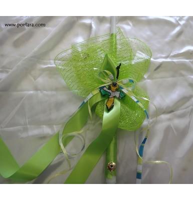 Easter Green Beauty Candle ~ Lambatha