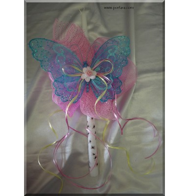 A Gorgeous Butterfly Easter Candle ~ Labatha