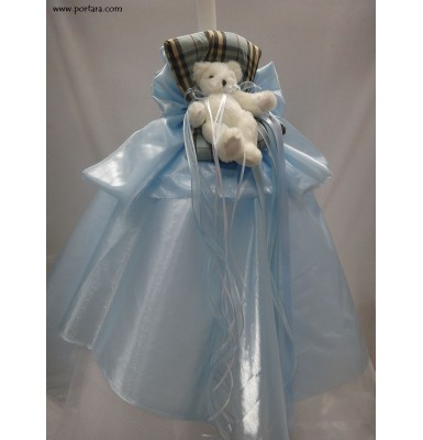 Baby Blue Dream Christening Baptism Candle