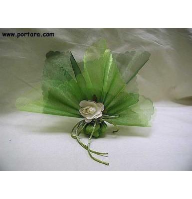 Pure Organza Green Bomboniere Favor Idea