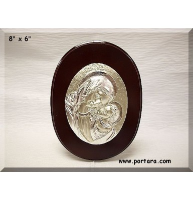 Oval Silver-Mahogany Icon Gift Favor Idea