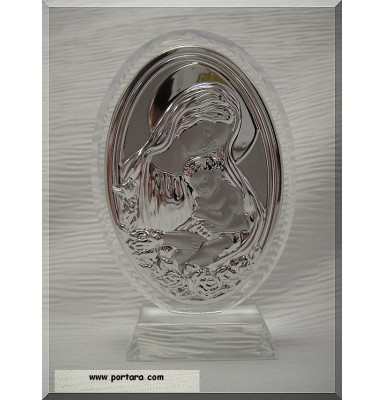 Murano Virgin Mary with Jesus Icon Party Favor