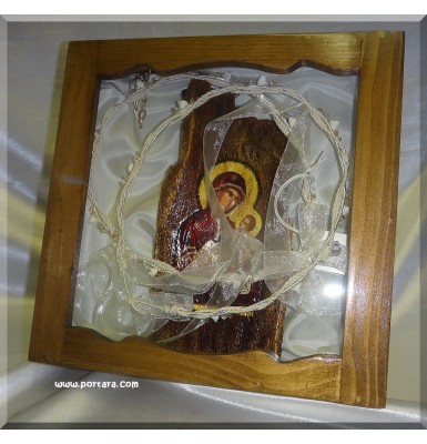 Exquisite Wedding Crown Case with Icon ~ Stefanothiki