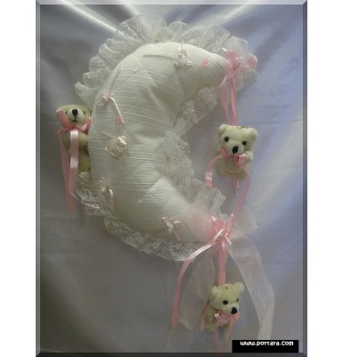 Baby Pink Hanging Moon Treasure Pillow