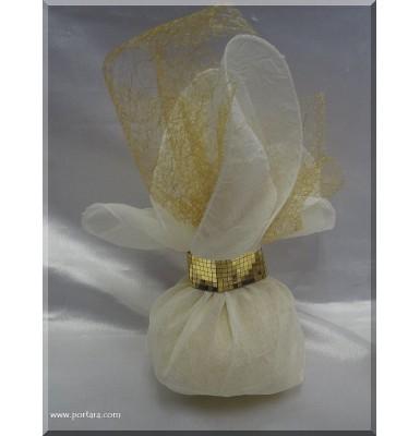 Golden or Silver Chiffon Bomboniere Favor Gift Idea
