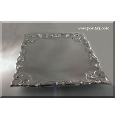 Lovely Square Tray with Fleus de Lis Design