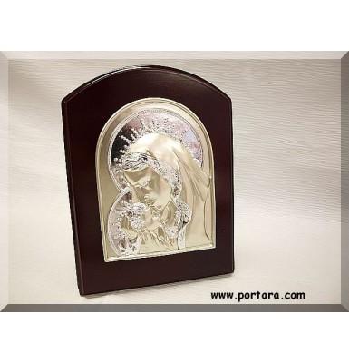Square Silver-Mahogany Icon Favor Gift Idea