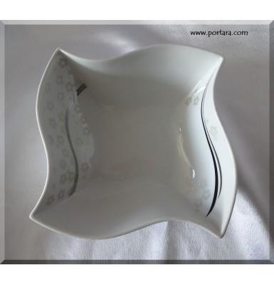 Fine Porcelan Twist Dish Shimmer Design
