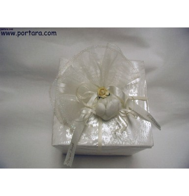 White and Ivory Combination Wrapping Idea